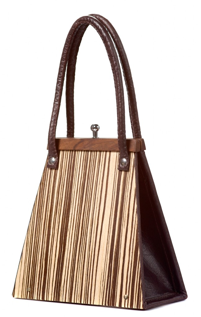 Handbag Wooditbe - bright makassar veneer
