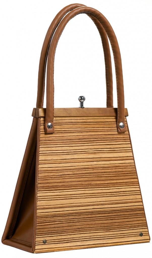 Handbag Wooditbe - zebrano veneer