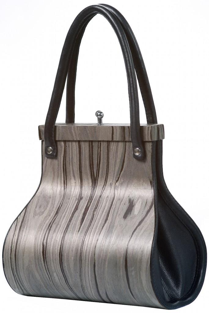 Handbag Wooditbe - gray rosewood veneer