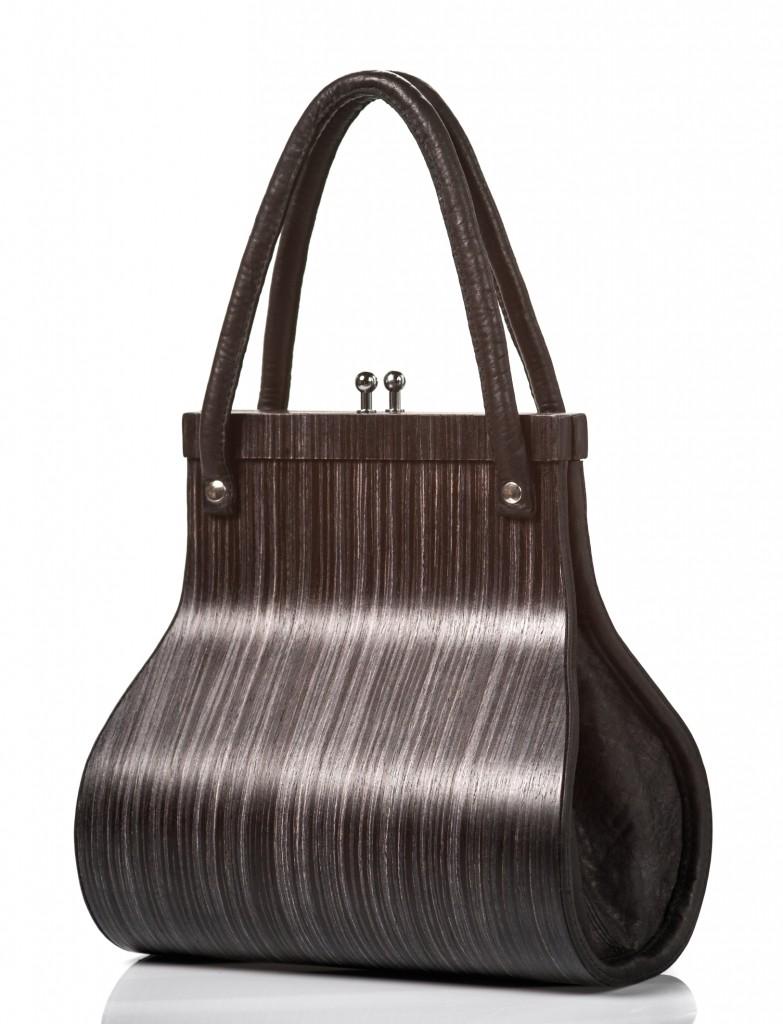 Handbag Wooditbe - gray makassar veneer