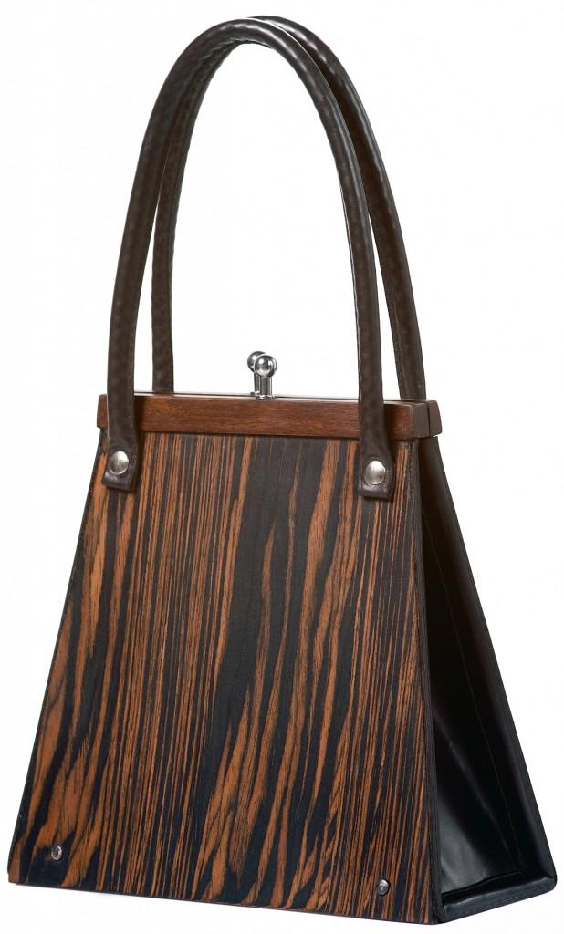 Handbag Wooditbe - dark makassar veneer