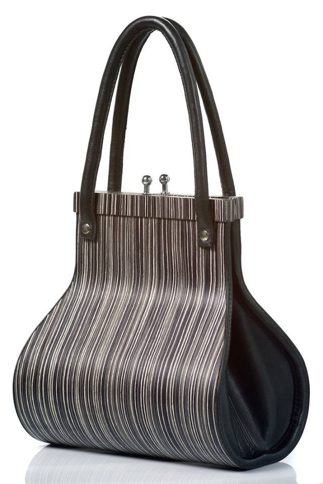 Handbag Wooditbe - printed striped veneer