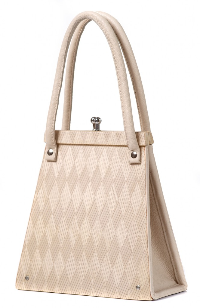 Handbag Wooditbe - Inlaid diamond veneer